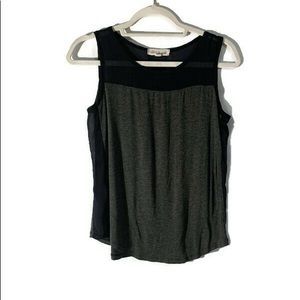 OLIVE & OAK XS Blue And Grey Tank Top